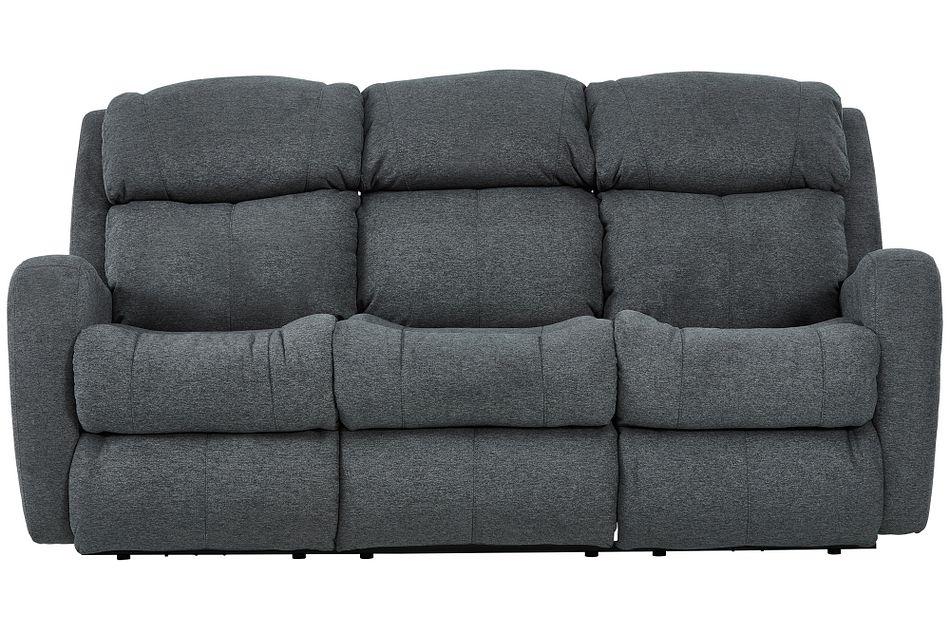 Finn Gray Fabric Reclining Sofa