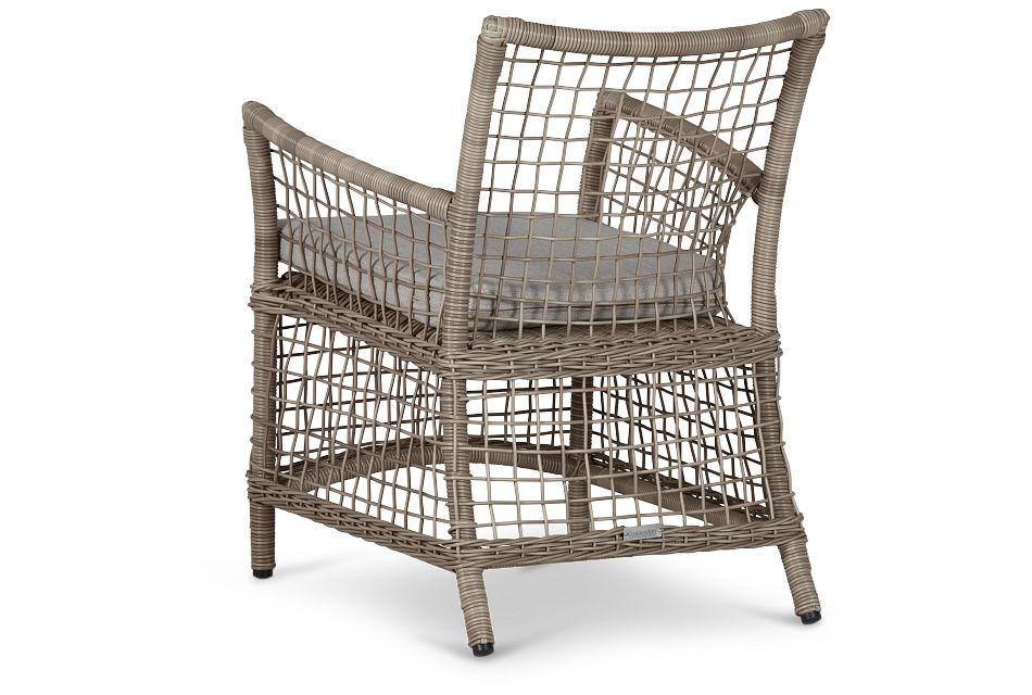 Raleigh Gray Woven Arm Chair