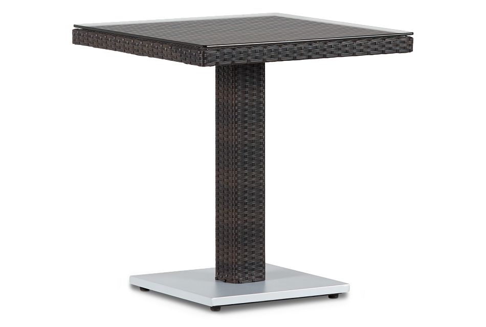 "Zen Dark Tone 27"" Square Table"
