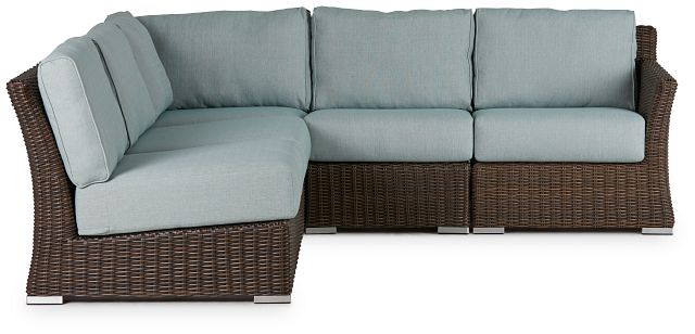 Southport Teal Right 5-piece Modular Sectional (1)