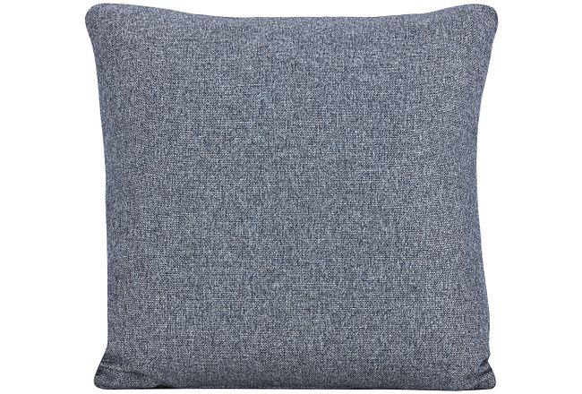 Noah Dark Gray Fabric Square Accent Pillow