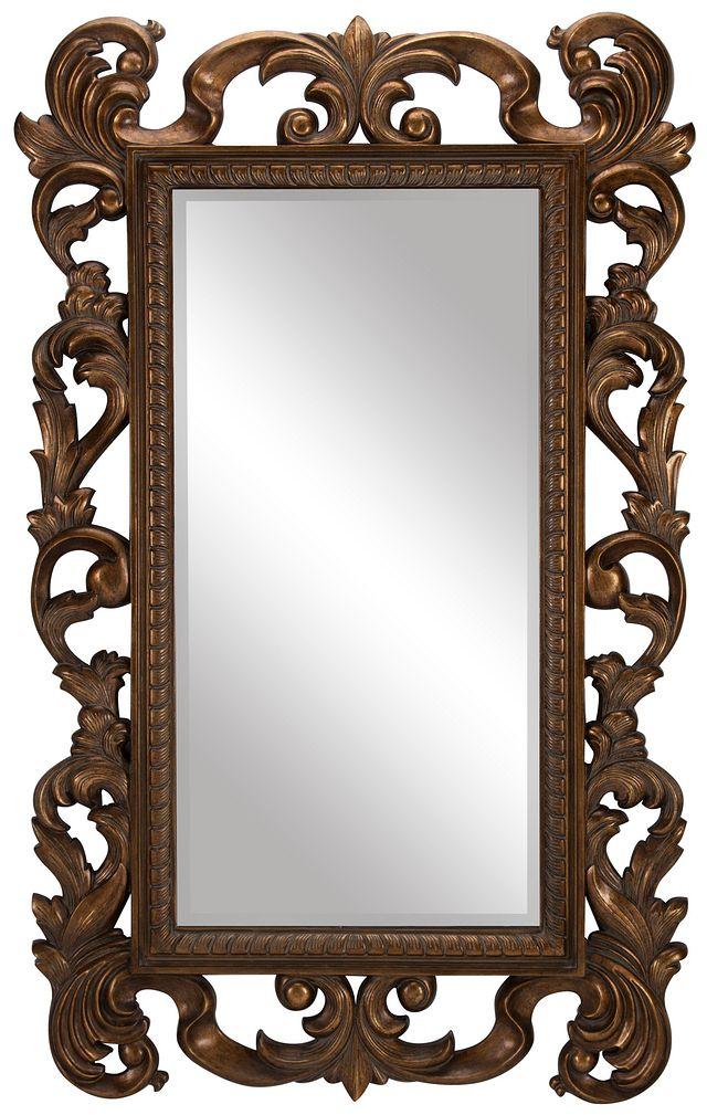 Cecily Gold Floor Mirror