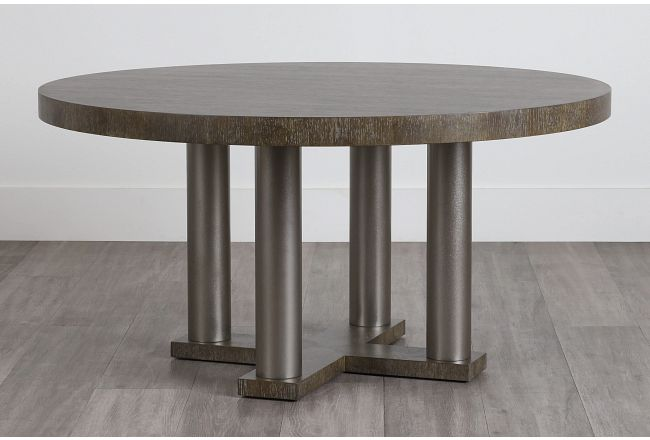 Linea Dark Tone Round Table