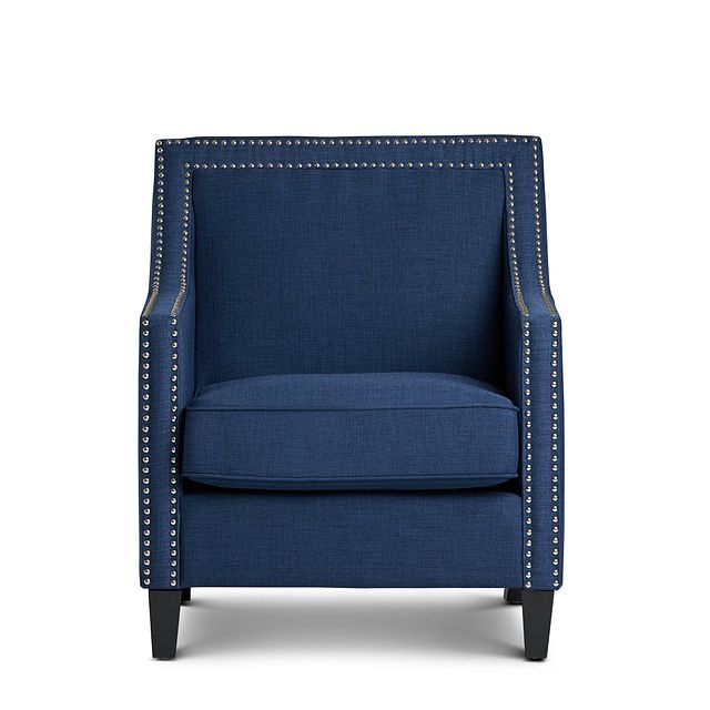 Erica Blue Fabric Accent Chair (3)