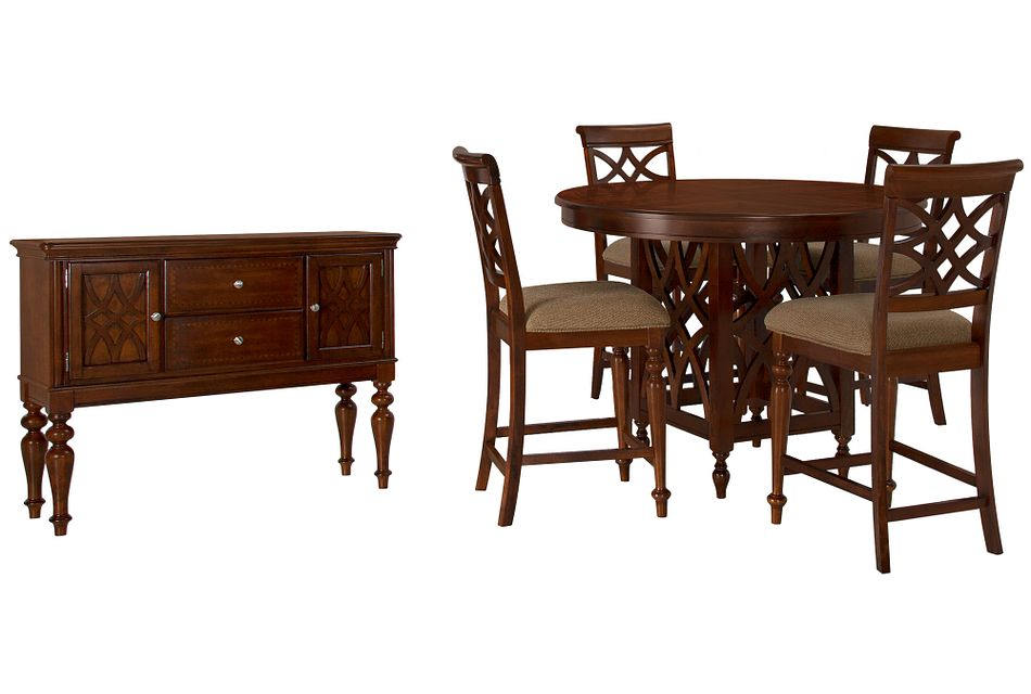 Oxford Mid Tone Round High Dining Room,
