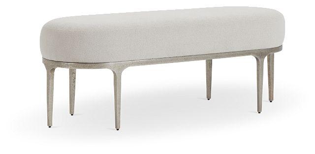 Linea Upholstered Metal Bench (2)