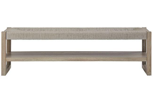 Zephyr Light Tone Woven Bench