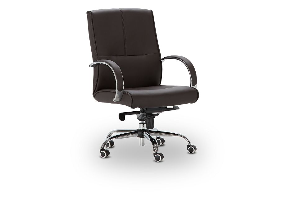 Greeley Brown Uph Desk Chair