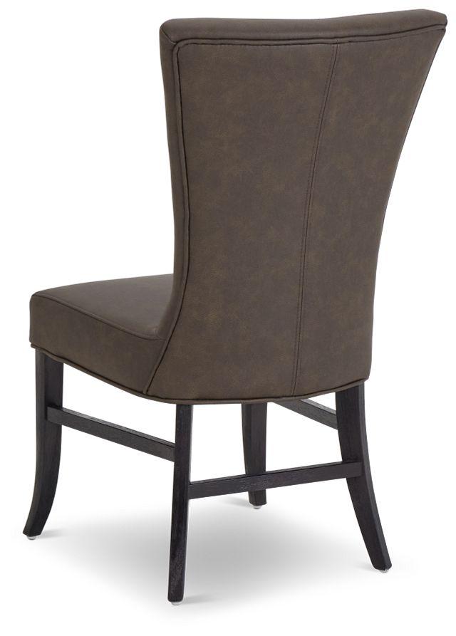 Lori Dark Brown Micro Side Chair