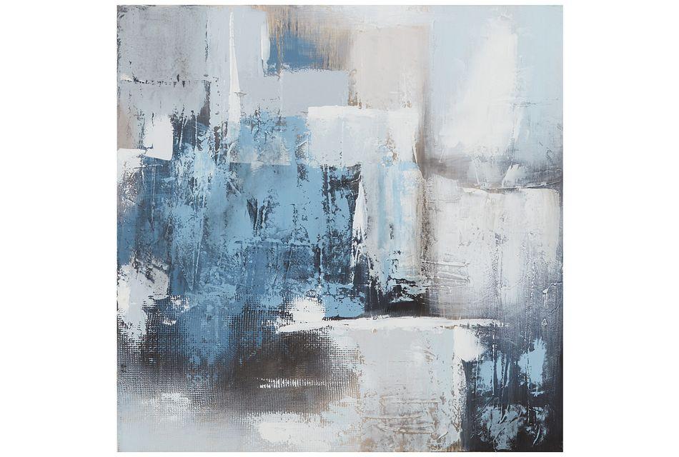 Swatch Blue Canvas Wall Art