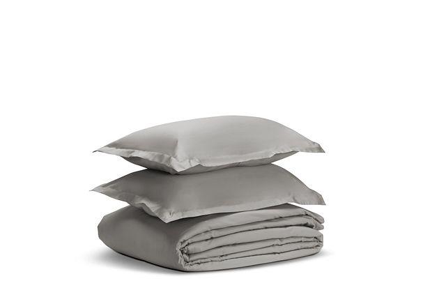 Egyptian Cotton Gray 400 Thread Duvet Set (1)