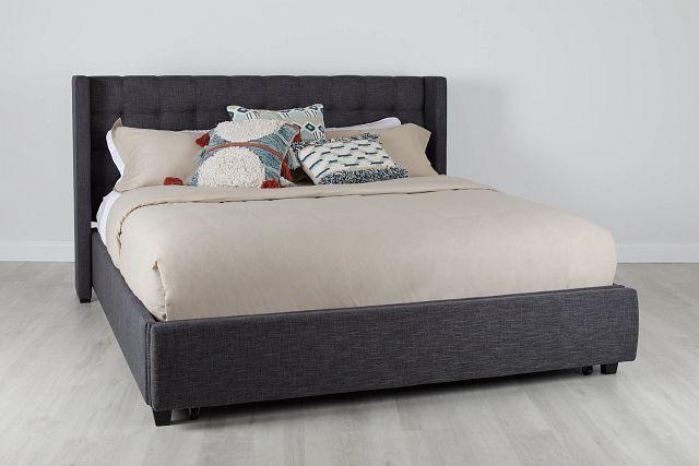 Chatham Dark Gray Low Platform Storage Bed (2)