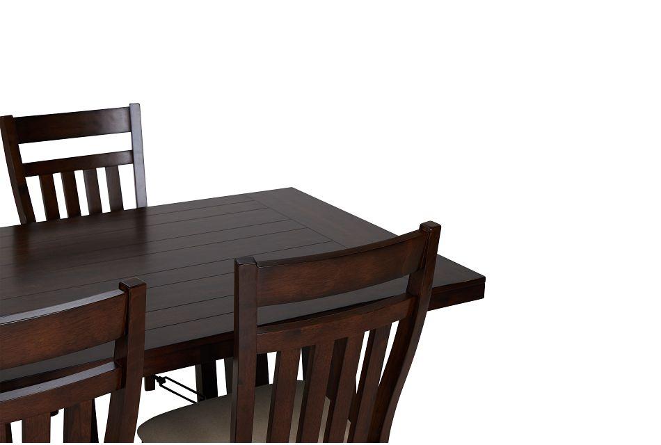 Napa Dark Tone Table & 4 Wood Chairs