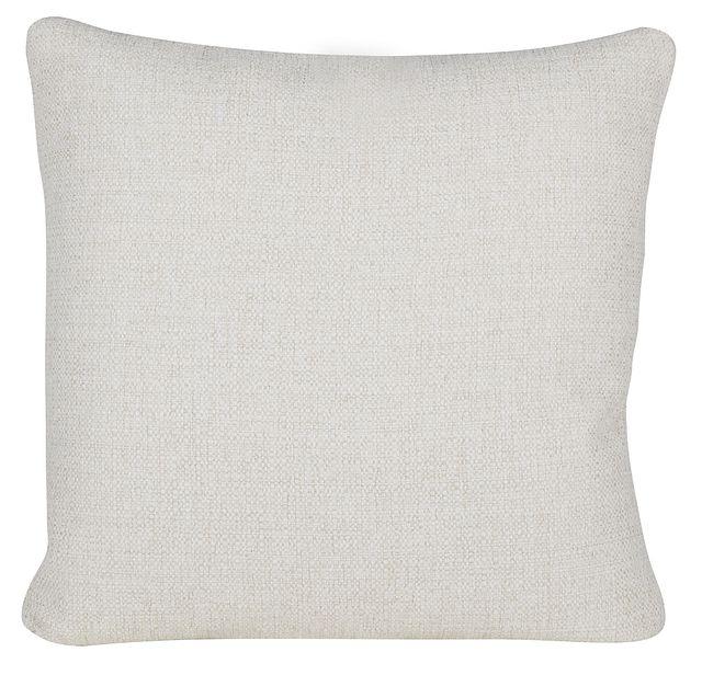 Austin White Fabric Square Accent Pillow (0)