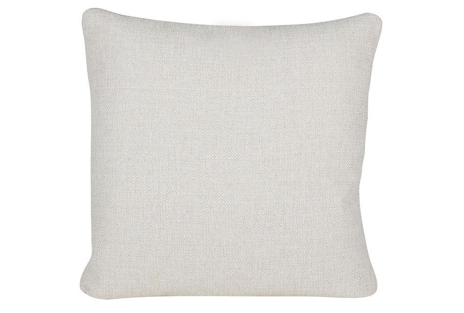 Austin White Fabric Square Accent Pillow