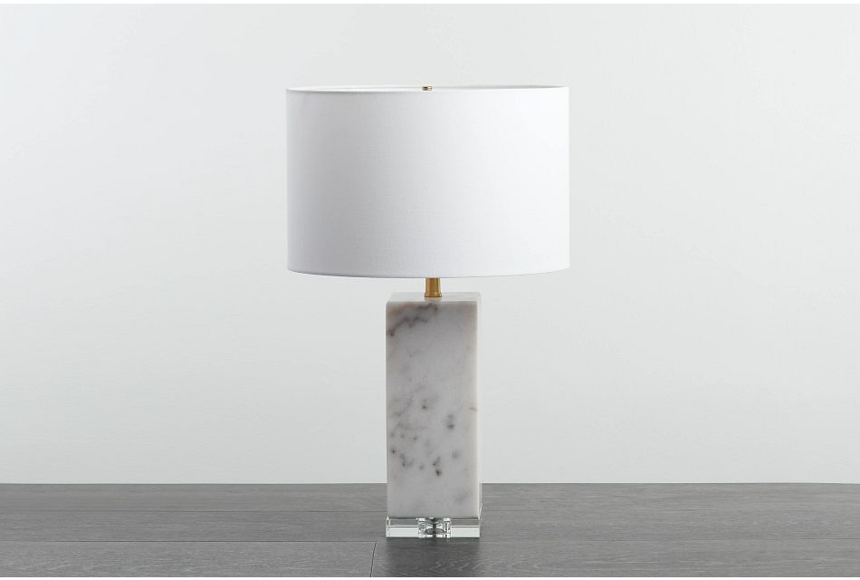 Simply White  Table Lamp