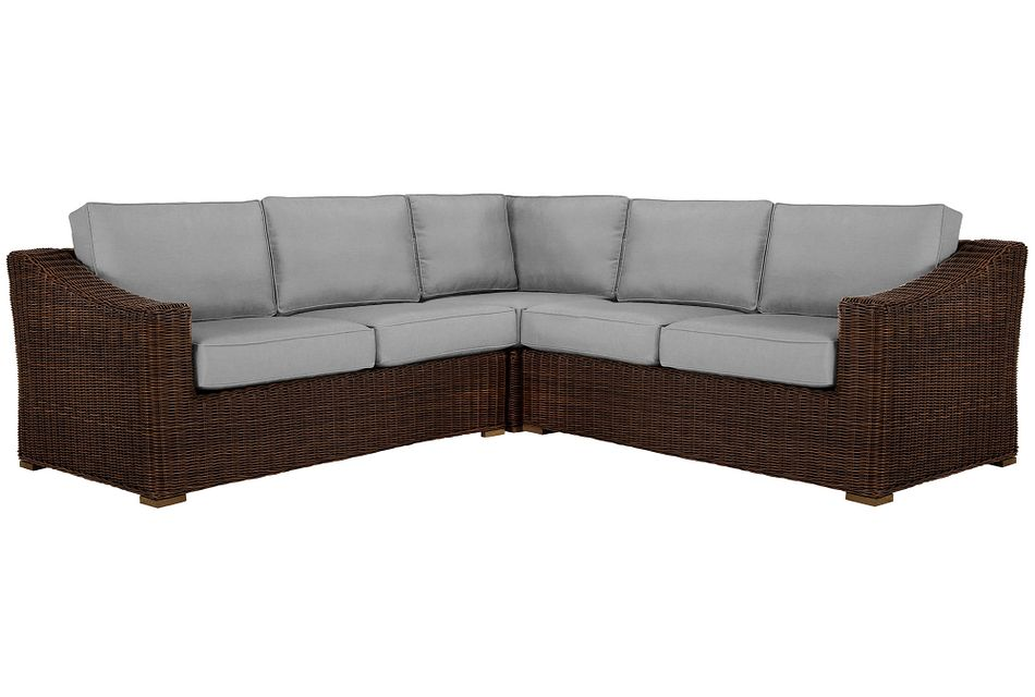 Canyon Dark Brown Gray Small Two-arm Sectional