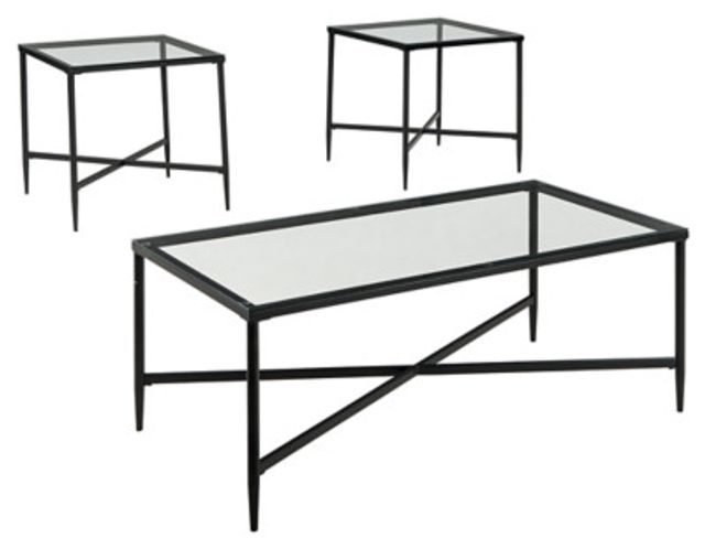 Augeron Glass 3 Pack Tables