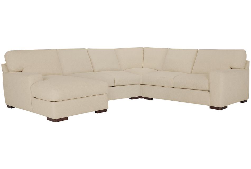 Veronica Khaki Down Medium Left Chaise Sectional