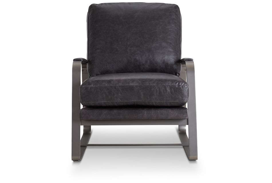 Lex Black Lthr/vinyl Accent Chair,  (2)