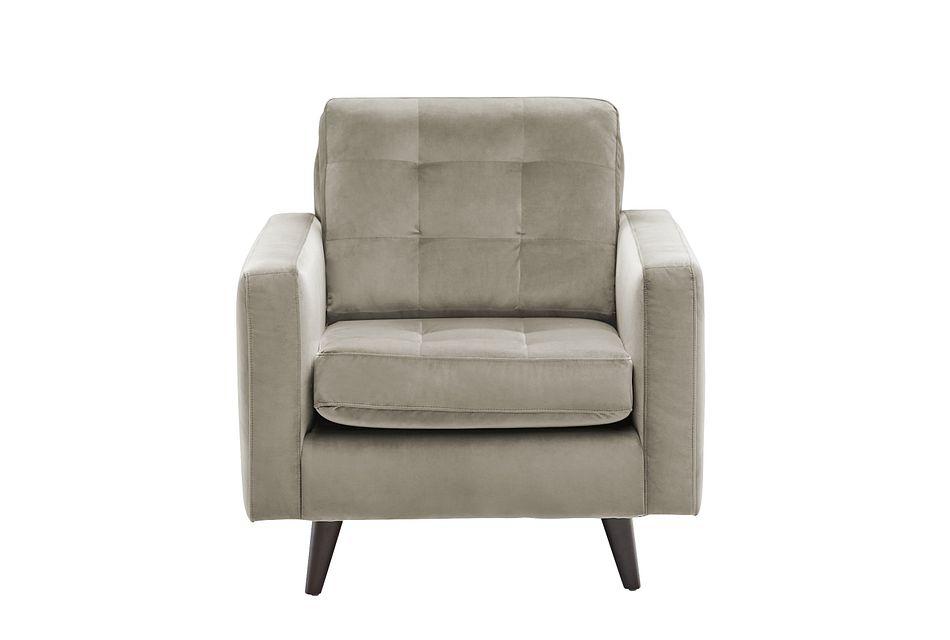 Mila Beige Velvet Chair