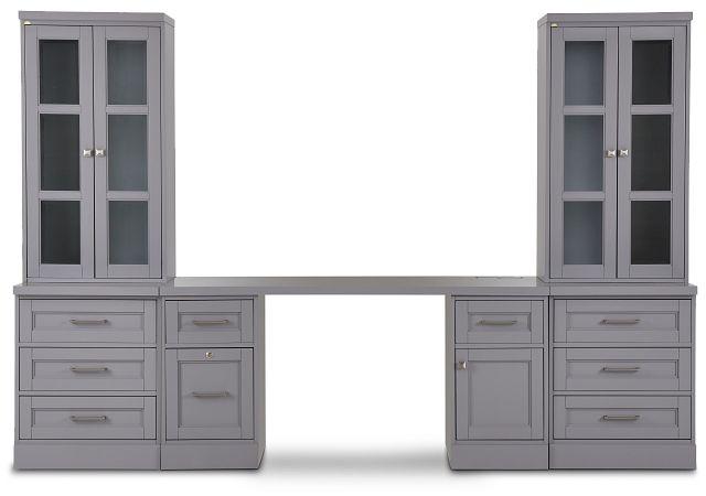 Newport Gray Drawer Wall Desk (1)