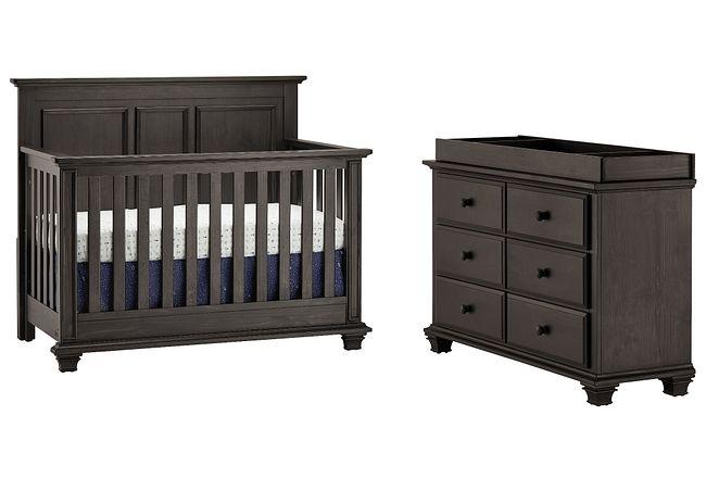 Kenilworth Dark Tone Small Crib Bedroom