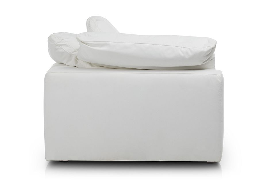 Nixon White Fabric Corner Chair