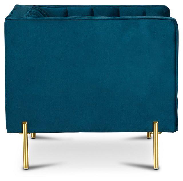 Bella Dark Blue Velvet Chair (2)