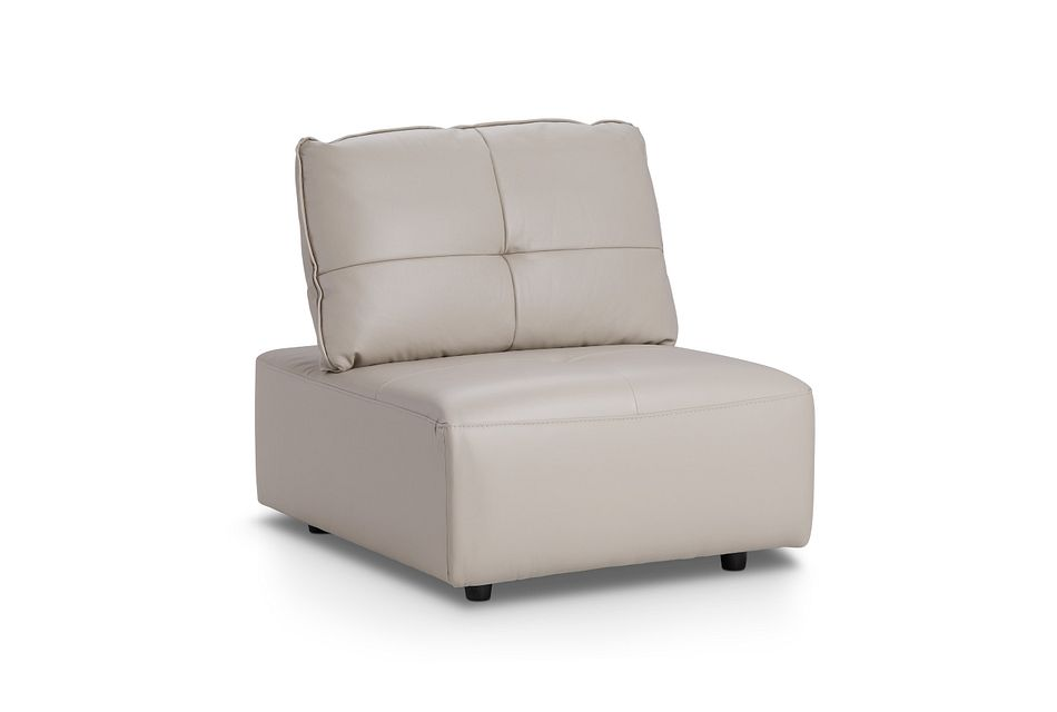 Trice Taupe Lthr/vinyl Armless Chair,  (2)
