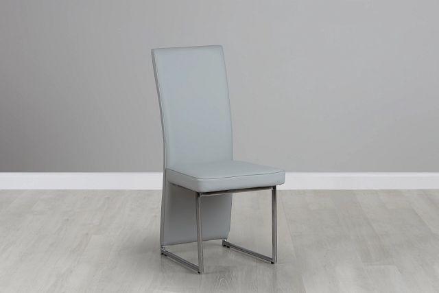 Paris Light Gray Upholstered Side Chair (0)