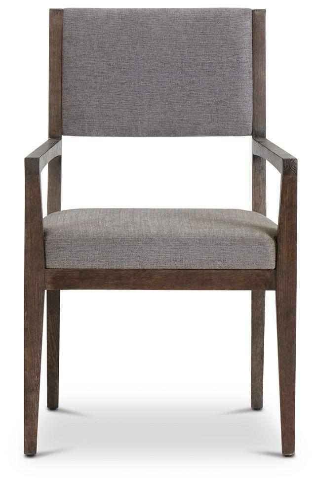 Linea Dark Tone Arm Chair (3)