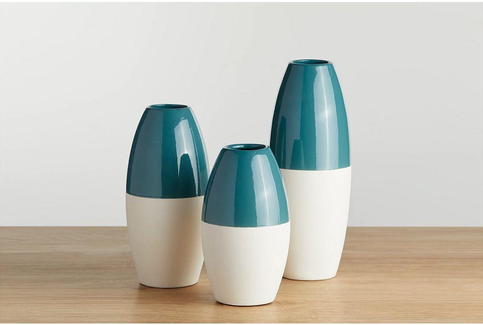 Wynne Blue Large Vase