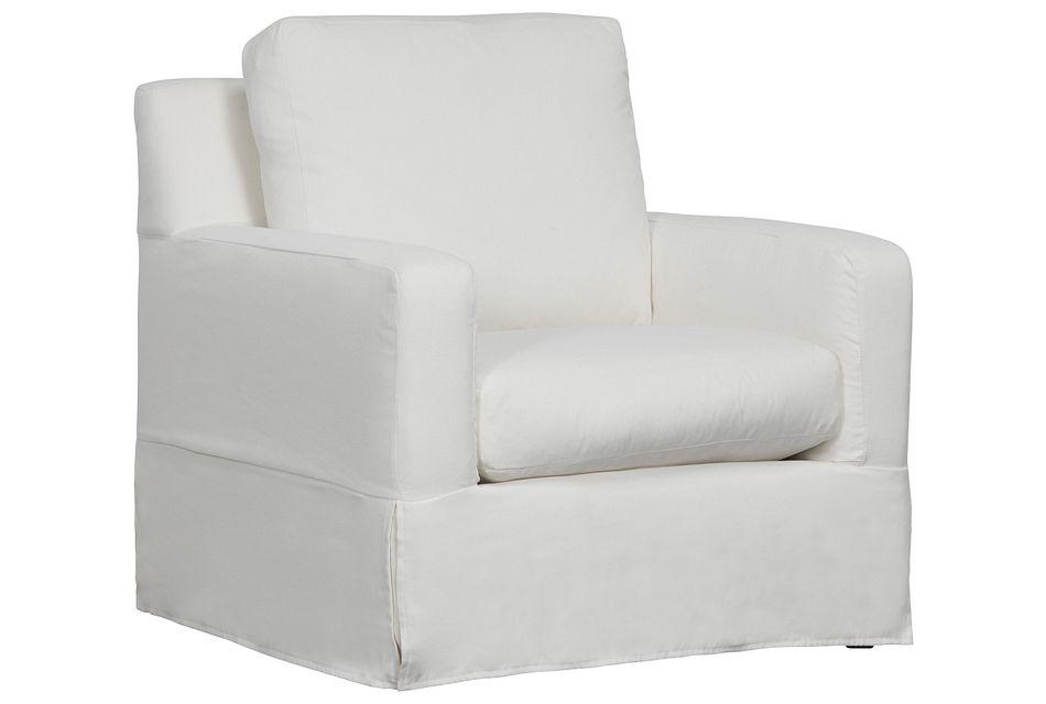 Bree White Fabric Chair