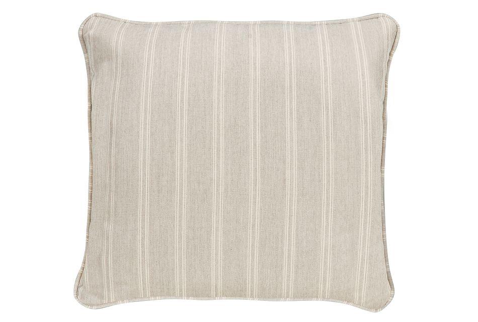 "Espadrille Light Gray 18"" Indoor/outdoor Accent Pillow"