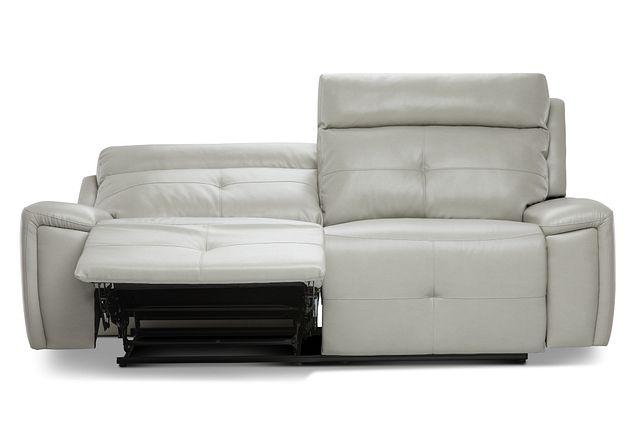 Chandler Light Gray Micro Power Reclining Sofa (1)