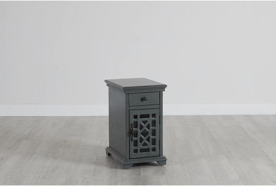 Alexis Dark Gray Small Cabinet,  (0)