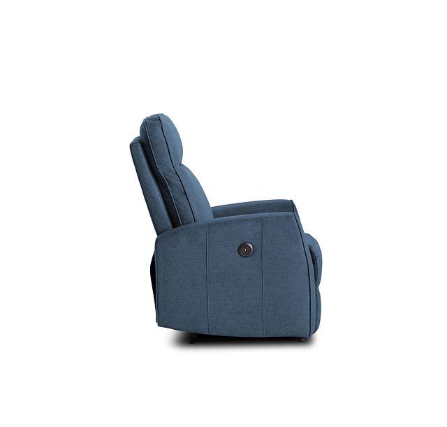 Chris Blue Fabric Power Recliner (1)