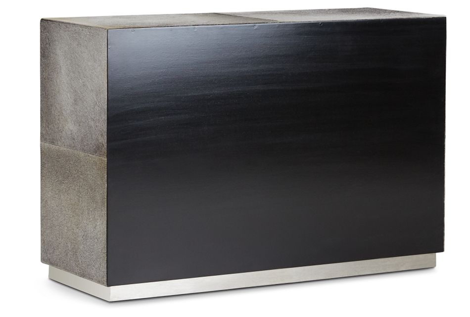 Parkin Gray Leather Accent Chest