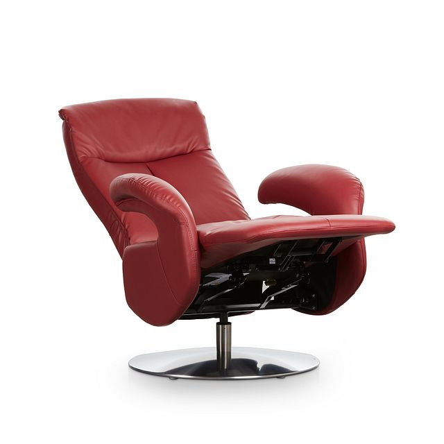 Lewis Red Micro Swivel Recliner (1)