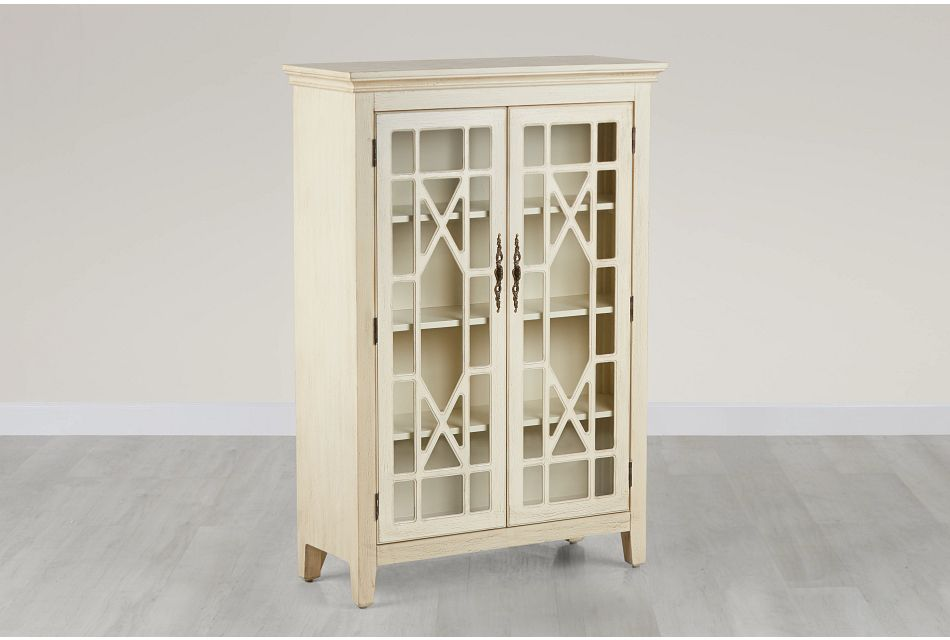 Alexis Ivory Tall Two-door Cabinet