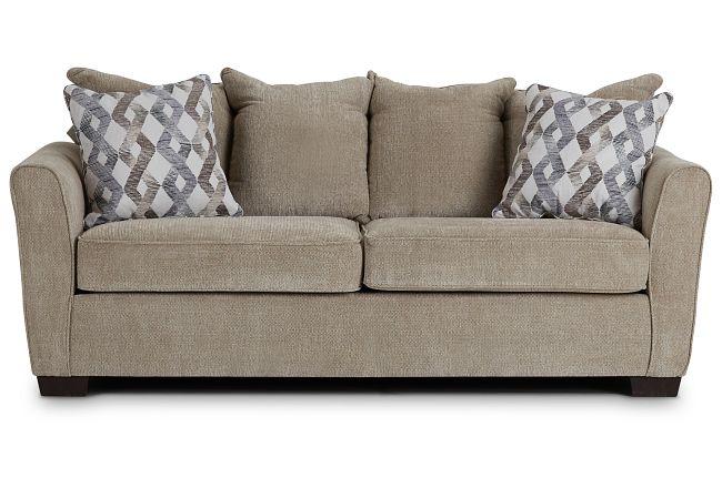 Myra Beige Fabric Sofa