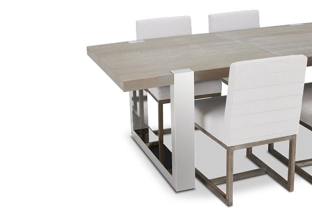 Berlin White Table & 4 Upholstered Chairs