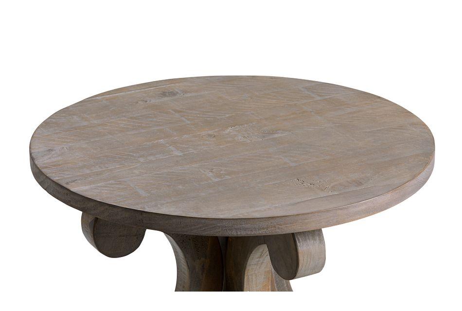 Sonoma Light Tone Round Accent Table