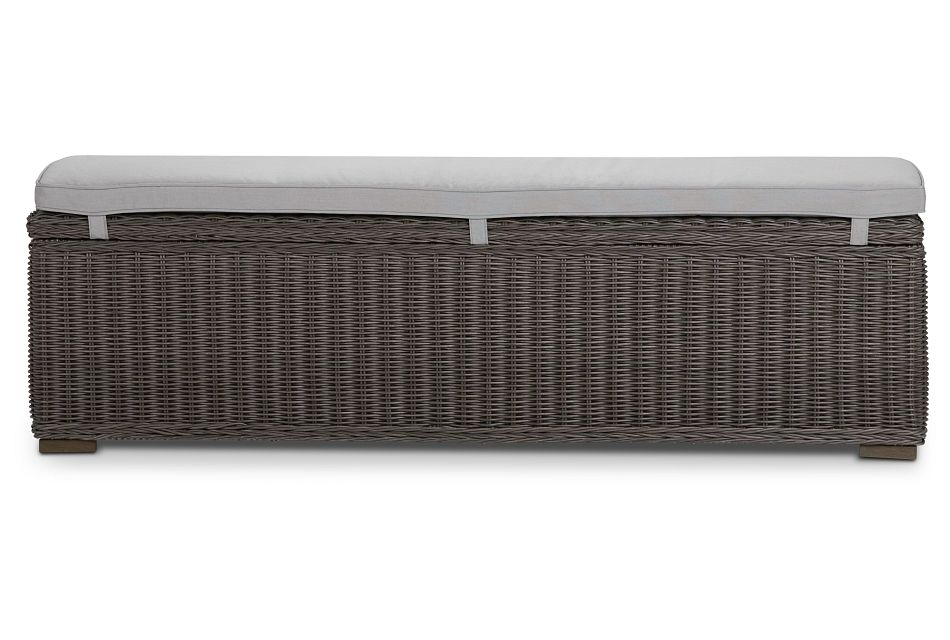 Canyon Gray Woven Dining Bench