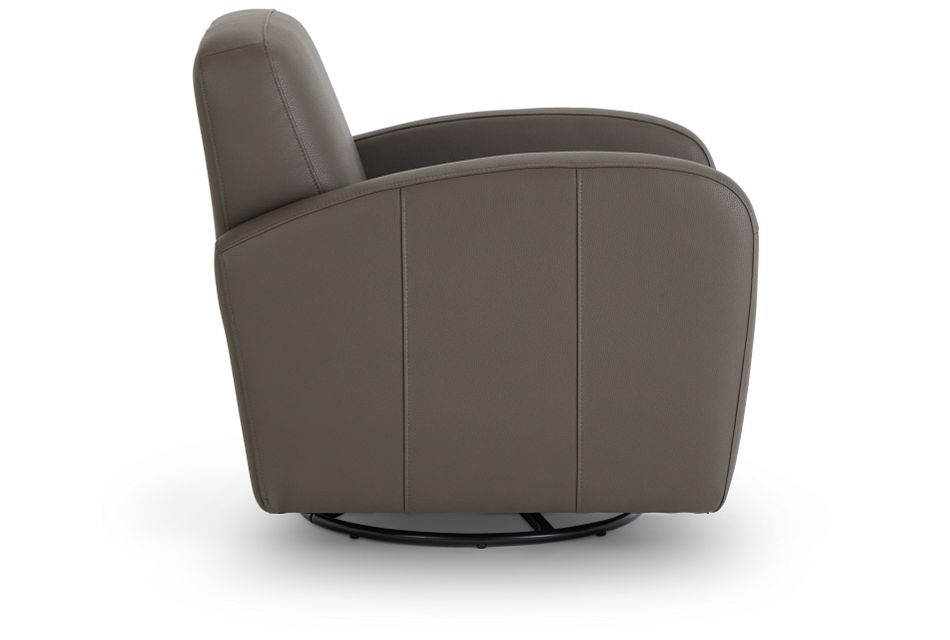 Axis Dark Gray Vinyl Swivel Accent Chair,  (2)