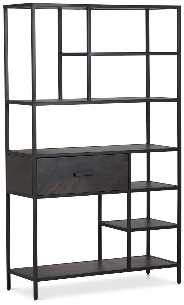 Cleo 1-drawer Metal Bookcase (2)
