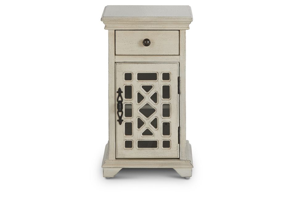 Alexis Ivory Small Cabinet,  (1)