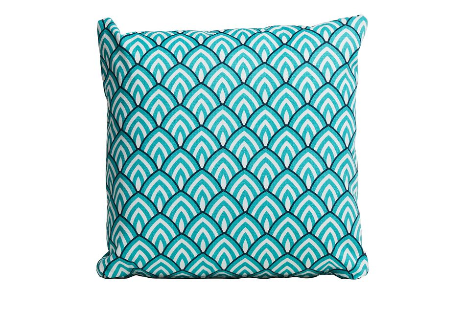 "Lalo Aqua 20"" Indoor/outdoor Accent Pillow"