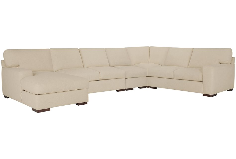 Veronica Khaki Down Large Left Chaise Sectional